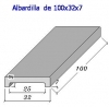 Albardilla forma U 100x32x7 (Esq. Rectas)