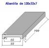 Albardilla forma U 100x32x7 (Esq. Rectas)
