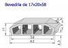 Bovedilla 17x20x60