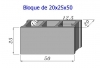 Bloque Sencillo de 20x25x50