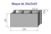 Bloque Sencillo de 20x25x50