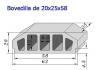 Bovedilla 20x25x60