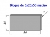 Bloque Macizo 6x25x50