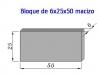 Bloque Macizo 6x25x50