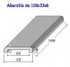 Albardilla forma U 100x33x6 (Esq. Redondeadas)