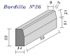 Bordillo N.26 25x14x50