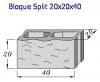 Bloque Split 20x20x40