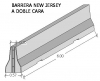 Barrera New Jersey a doble cara
