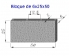Bloque Sencillo 6x25x50