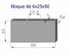Bloque Sencillo 6x25x50