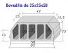 Bovedilla 25x25x60